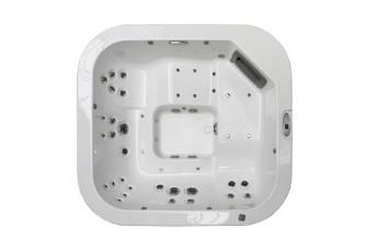 Whirlpool Santorini Top Teak Stereo White jacuzzi-100260-31