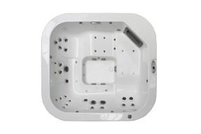 Whirlpool Santorini Top Teak Stereo White jacuzzi-100260-20