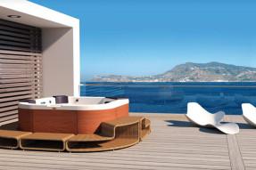 Whirlpool Santorini Top Teak Stereo White jacuzzi-100260-10
