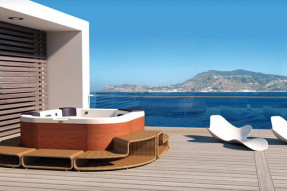 category Whirlpool Santorini Top Teak Stereo White jacuzzi-100260-10