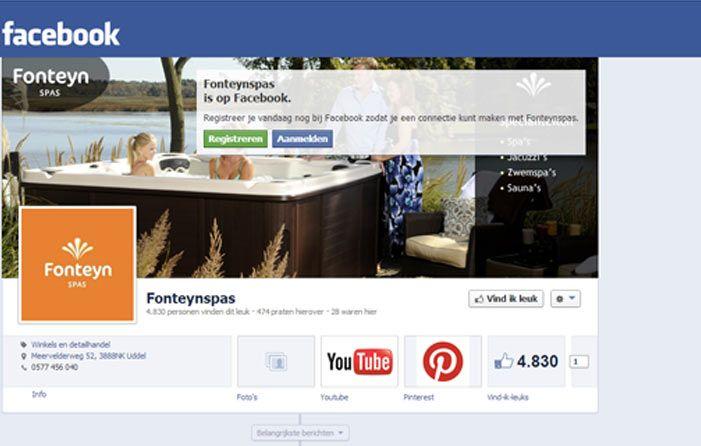 Volg de Fonteyn Spas op Facebook!