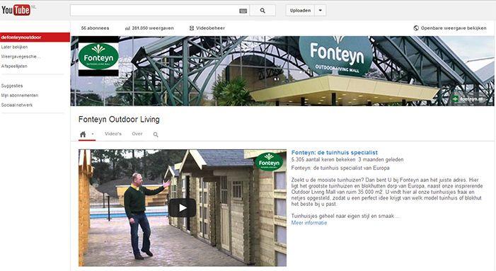 Volg de Fonteyn Outdoor Living Mall op Youtube!